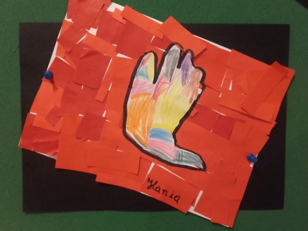 Praca plastyczna - Moja dłoń